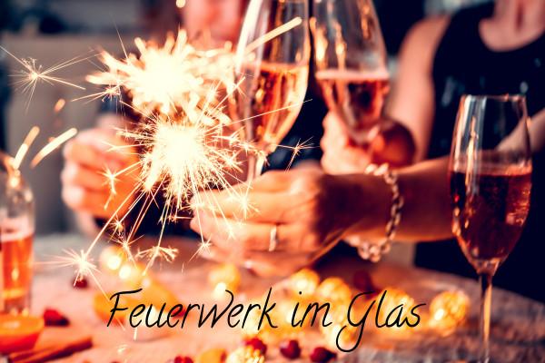 Feuerwerk im Glas